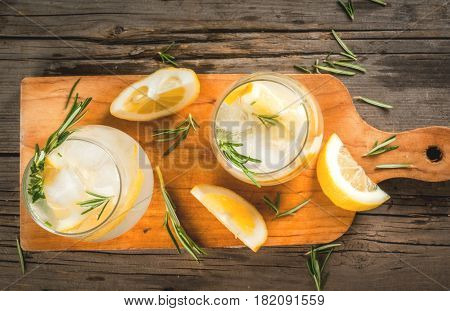 Tonic Water With Lemon And Rosemary