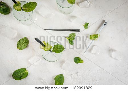 Cucumber Gin And Tonic Cocktail