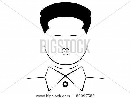 North Korean leader Kim Jong-un, Vector portrait