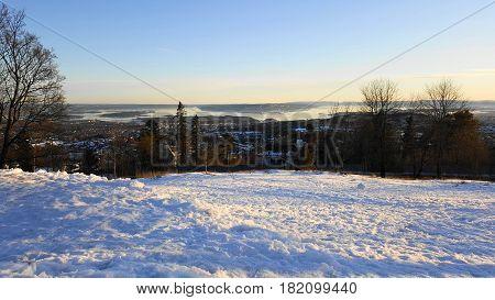Oslo, Bjerke Winter - Travbanen, Fjord far