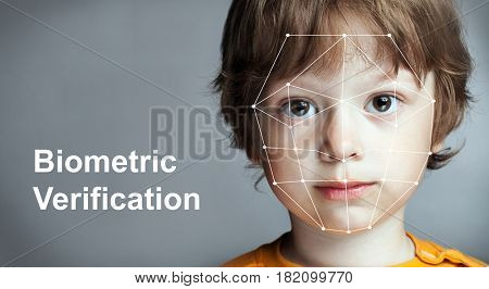 Biometric Verification - Boy Face Detection, high technology