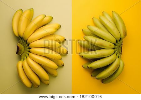 Thai Yellow And Green Bananas