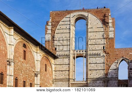 Best view of Siena is from the Viewing Platform Facciatone above the unfinished facade - Siena, Italy