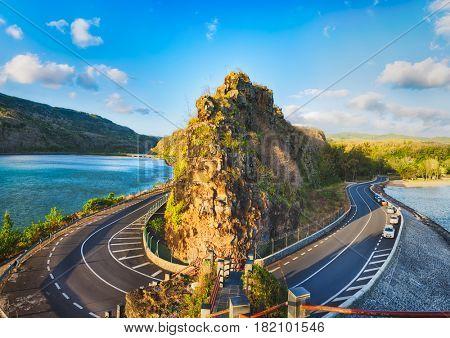 Maconde view point. Mauritius island. Panorama