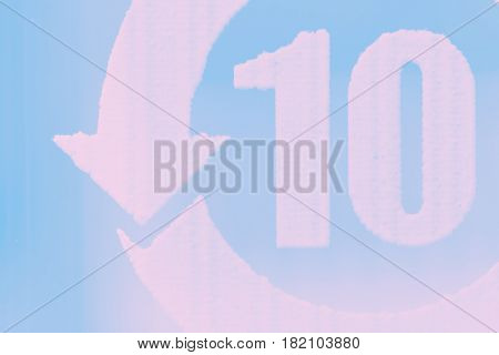 Abstract ten 10 background