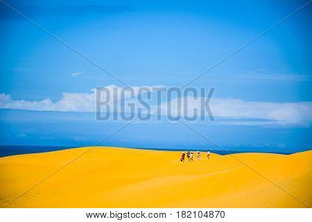 the sand hills at Mui Ne, Phan Thiet City, Binh Thuan, Vietnam