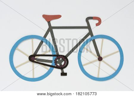 Illustration of bicycle riding exercise activity