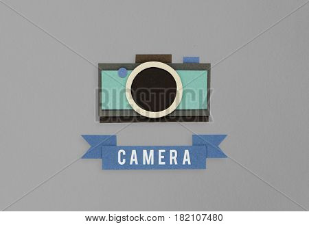 Illustration of camera photography collect memories