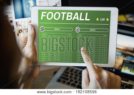 Gambling Football Game Bet Concept