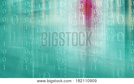 Digital binary code background suitable for website and graphical banners.Matrix movie effects.
