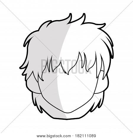 faceless young woman with short scruffy hair icon image vector illustration design