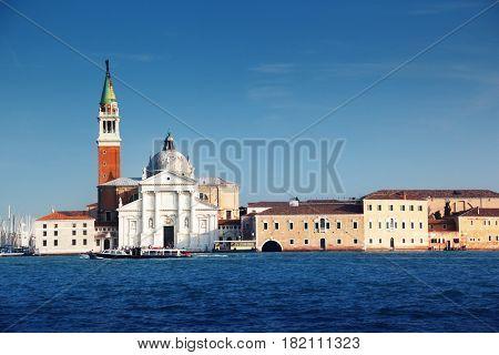 Canal Grande with San Giorgio Maggiore church, Venice, Italy
