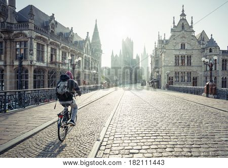 Historic houses in Ghent, Belgium