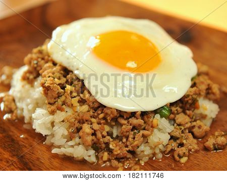 Fried Rice With Minced Beef And Eggs
