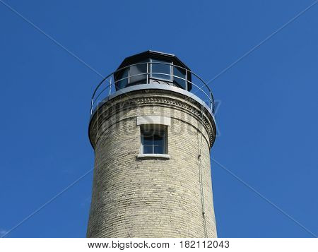 South Kenosha Light House orin Wisconsin bordering Lake Michigan