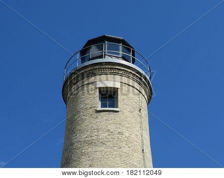 South Kenosha Light House orin Wisconsin bordering Lake Michigan