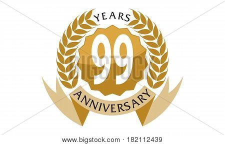 99 This vector describe about 1 Years Ribbon Anniversary