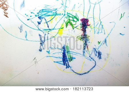 colorful of wallpaper by crayon color. works art of child