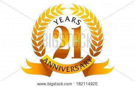 This vector describe about 21 Years Ribbon Anniversary