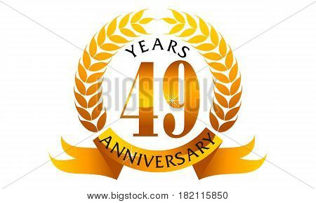 This Vector describe about 49 Years Ribbon Anniversary poster