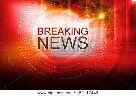 Graphical Breaking News Background. 3d Illustration 3d Render
