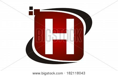 This vector describe about Logo Technology Motion Synergy Initial H