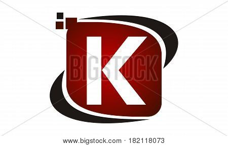 This vector describe about Logo Technology Motion Synergy Initial K