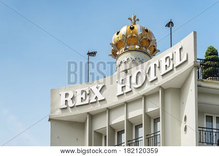 Facade Of The Rex Hotel Saigon In Vietnam