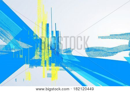 Abstract graphic design a sense of science and technology background.