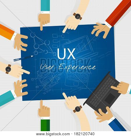 UX user experience web design concept vector
