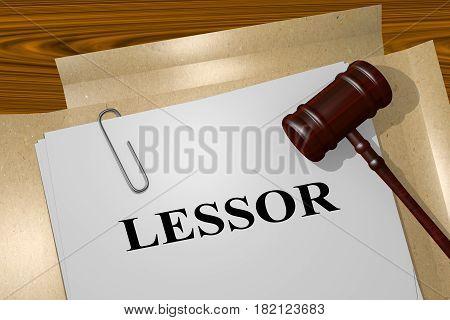 Lessor - Legal Concept