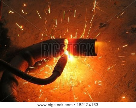 photography with scene of working the gas welder