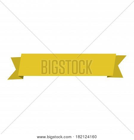realistic yellow color ribbon tape decorative vector illustration
