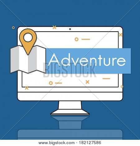 Adventure Destination Discover Location Icon