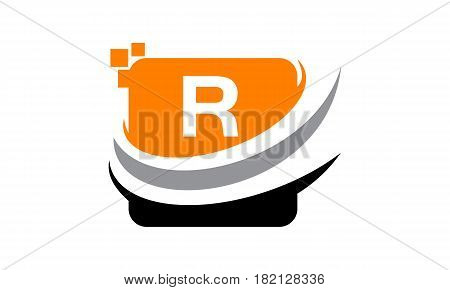 This vector describe about Logo Technology Motion Synergy Initial R