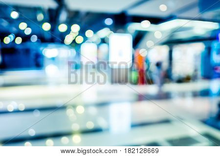 Blurred Background,shop In Department Store With Bokeh Light