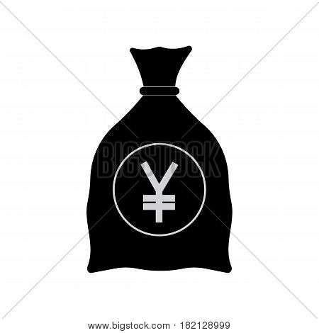 Money bag with yen sign vector illustration