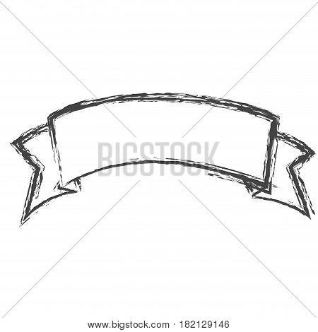 blurred silhouette sketch ribbon tape decorative vector illustration