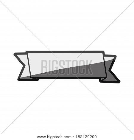 monochrome silhouette sketch ribbon tape decorative vector illustration