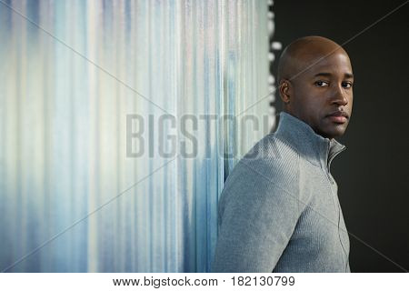 African man looking serious
