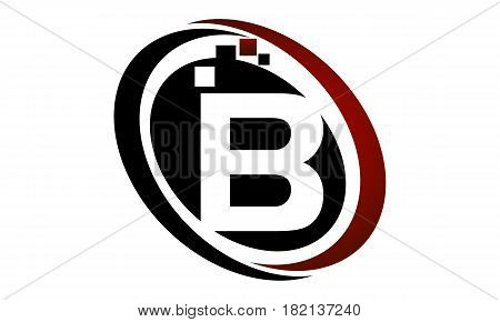 This vector describe about Technology Logo Motion Synergy Initial B