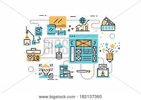Web Design Line Icons Illustration