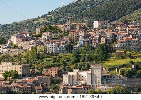 Old town of Cori in  Latina Province, Lazio, Italy