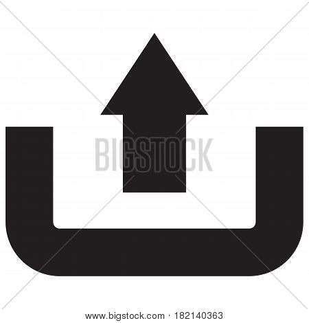 upload icon uploading Symbol Vector Business Direction