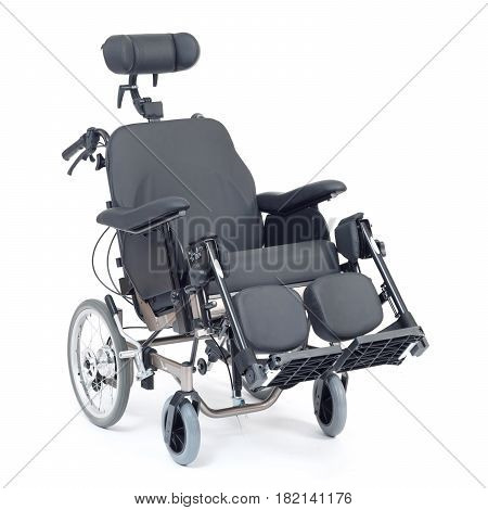 Soft Wheelchair With Headrest Isolated On White Background