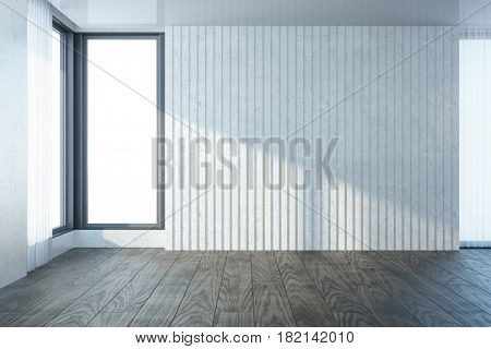 empty room with window, 3d rendering