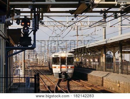 Railway Station In Tokyo, Japan