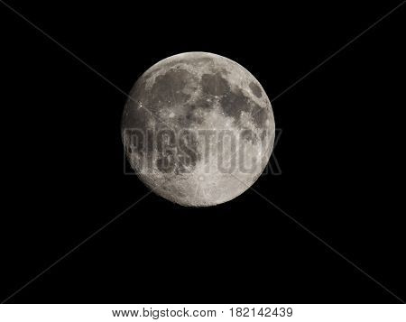 Full Moon Seen With Telescope