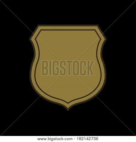 Shield Flat Icon Emblem