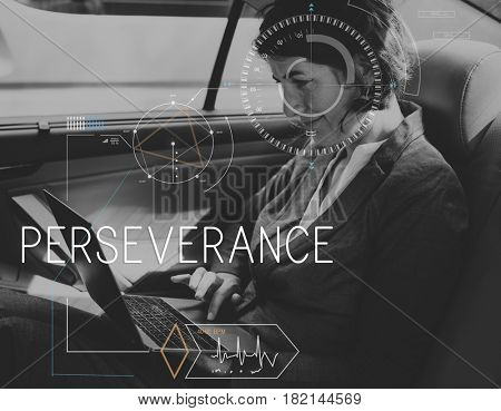 Perseverance Dedication Business Word